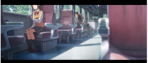 君の名は電車シーン